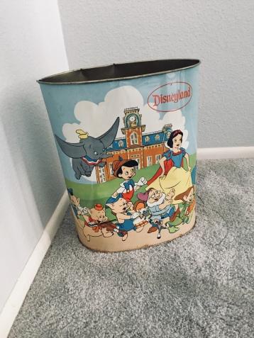 Disneyland wastebasket from my grandmother