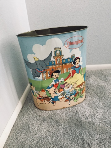 Disneyland wastebasket from my grandmother